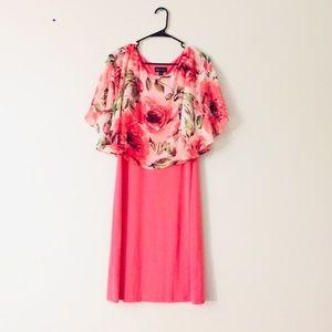 ✅Poncho dress kaftan dress peachy🍑 pink dress